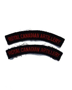 ww2 ROYAL CANADIAN ARTILLERY RCA SHOULDER FLASHES