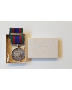 1939-1945 CANADIAN WW2 VOLUNTEER SERVICE SILVER WAR MEDAL WITH CLASP AND BOX