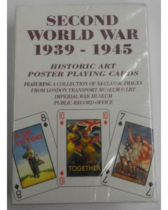 AMERICAN WW11 1939 - 1945 HISTORIC ART POSTER PLAYING CARDS