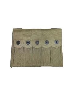 THOMPSON SMG WW11 FIVE CELL 20 ROUND MAGAZINE POUCH