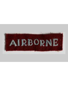 ORIGINAL BRITISH WWII STRAIGHT AIRBORNE TITLE