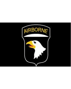 AMERICAN WWII 101st AIRBORNE BLACK FLAG