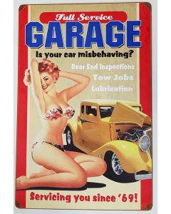 AMERICAN FULL SERVICE GARAGE METAL SIGN