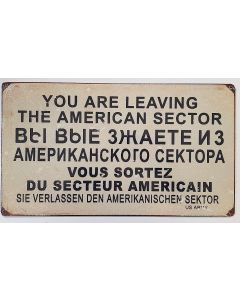 AMERICAN SECTOR METAL SIGN