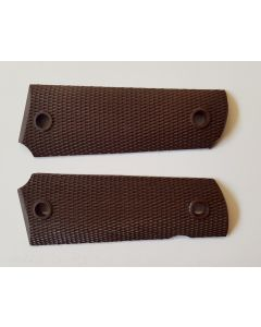 AMERICAN WW11 PISTOL GRIPS FOR COLT .45 - BROWN