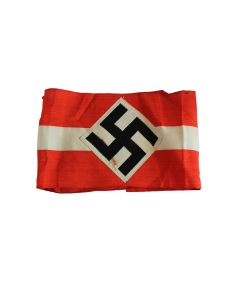 GERMAN  WWII HITLER YOUTH HJ COTTON ARMBAND -ORIGINAL