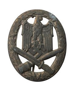 GERMAN WWII GENERAL ASSAULT BADGE, HOLLOW BACK (ALLGEMEINES STURMABZEICHEN)