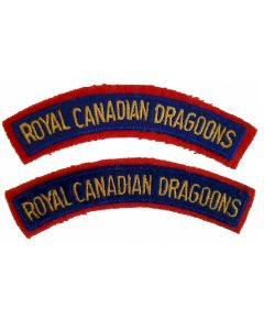 ww2 ROYAL CANADIAN DRAGOONS SHOULDER FLASHES