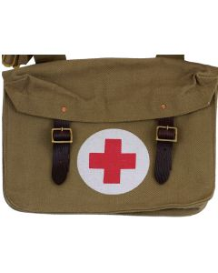 BRITISH WW1 MEDICS BAG WITH SHOULDER STRAP