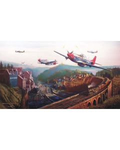 RED TAIL PASS PRINT BY ROBERT BAILEY