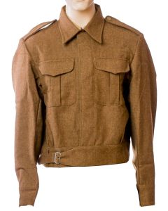 BRITISH WW2 1937 BATTLE DRESS WOOL BD TUNIC
