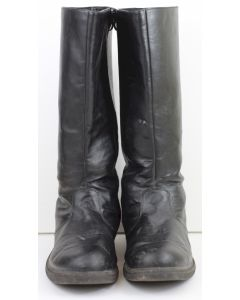 GERMAN OFFICER LEATHER JACK BOOTS WITH SIDE ZIPPER USED