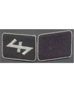 SS BRIGADE & SS NEDERLAND FOREIGN VOLUNTEER UNIT  OFFICER COLLAR TABS