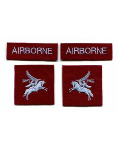BRITISH 6th AIRBORNE DIVISION RED DEVILS SHOULDER FLASH