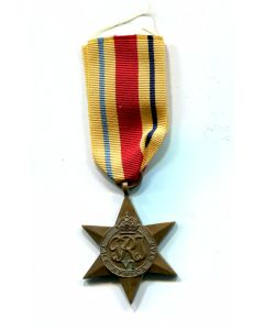 BRITISH CANADA WWII AFRICA STAR MEDAL FOR ACTIVE SERVICE AGAINST ROMMEL IN THE DESERT