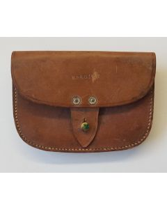 WW2 1941 Dated British Royal Navy Leather Amunition Pouch By B.H. & G.