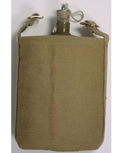 BRITISH WWII AIRBORNE WATER BOTTLE AND COVER