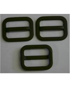 WW11 GERMAN SLIDE BUCKLES FOR GAS MASK STRAPS