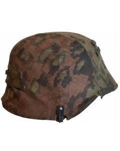 "WW2 GERMAN WAFFEN-SS OAK-LEAF ""A"" SECOND PATTERN CAMOUFLAGE HELMET COVER"