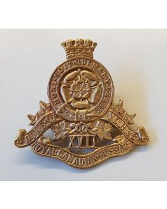 CANADIAN 17TH DUKE OF YORKS ROYAL CANADIAN HUSSARS CAP BADGE
