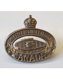 CANADIAN ESSEX REGIMENT TANK OF CANADA CAP BADGE