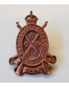 CANADIAN INFANTRY CORPS ACER CAP BADGE