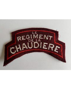 CANADIAN LE REGIMENT DE LA CHAUDIERE SHOULDER FLASH