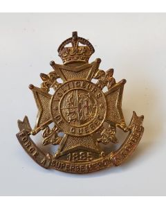 CANADIAN LES VOLTIGEURS DE QUEBEC CAP BADGE