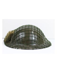CANADIAN MK.2 ORIGINAL HELMET SHELL,ORIGINAL BANDAGE AND POST WAR NET