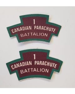 CANADIAN 1 PARACHUTE BATTALION PATCHES