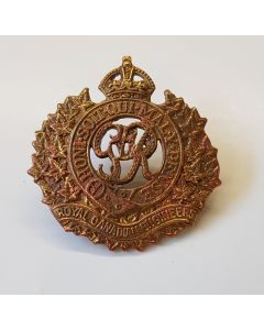 CANADIAN ROYAL CANADIAN ENGINEERS CAP BADGE