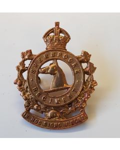 CANADIAN SHERBROOK REGIMENT CAP BADGE