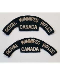 CANADIAN SHOULDER FLASH ROYAL WINNIPEG RIFLES KOREAN
