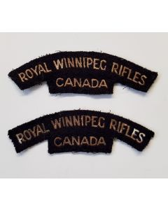 CANADIAN WW2 SHOULDER FLASH ROYAL WINNIPEG RIFLES CANVAS TITLE
