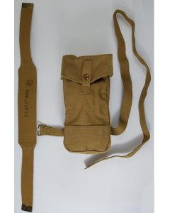 CANADIAN WW2 BREN GUNNERS FRONT MAG POUCH AND YOKE