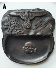 GERMAN WWII THIRD REICH WAFFEN SS ASHTRAY - SMALL