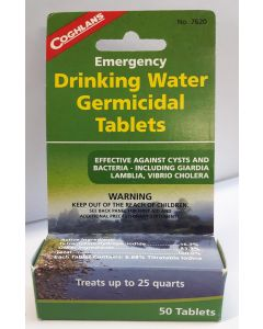 COGHLAN'S EMERGENCY DRINKING WATER TABLETS , 50 Tablets