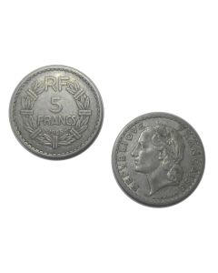 FRENCH RF 5 FRANCS 1945 COIN