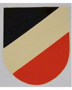 GERMAN WW2 NATIONAL TRI COLOR HELMET DECAL EARLY VARIANT WITH ROUNDED BASE