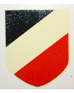 GERMAN HELMET DECAL NATIONAL TRICOLOR