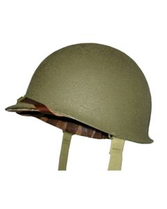WW11 AMERICAN  MI INFANTRY HELMET WITH LINER AND HELMET NET