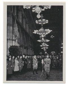 DER FÜHRER AM TAG DES GROTZDEUTJCHEN REICHES WIEN 9 APRIL 1938 - CIGARETTE CARD
