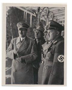 DER FUHRER PRUFT DEN FORTGANG DER AUFBAUARBEITEN IN LINZ, DER STADT LEINERJUGEND CIGARETTE CARD