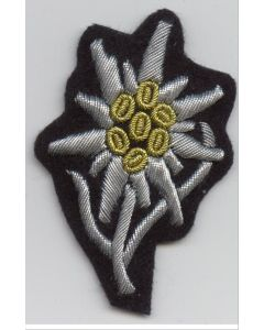 GERMAN WWII WAFFEN SS OFFICERS EDELWEISS CAP INSIGNIA