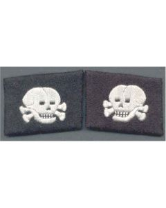 SS TOTENKOPF  (Mirror Horizontal) FOREIGN VOLUNTEER UNIT  ENLISTED MAN  COLLAR TABS