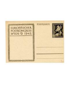 Europäischer Postkongress Wien 1942 Postcard