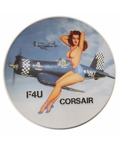 F4U CORSAIR NUDE METAL SIGN
