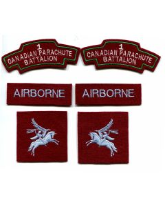 FIRST CANADIAN PARACHUTE BATTALION BADGES & PATCHES - SET OF 6