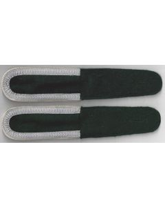 GERMAN UNTEROFFIZIER BOTTLE GREEN SHOULDER BOARDS ( INFANTRY )