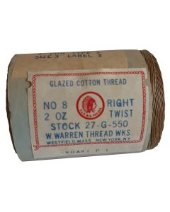 WWII AMERICAN KHAKI GLAZED COTTON THREAD NO 8